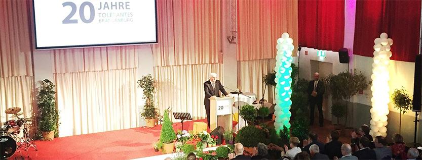 20 Jahre Tolerantes Brandenburg mit Bundespräsident Frank-Walter Steinmeier