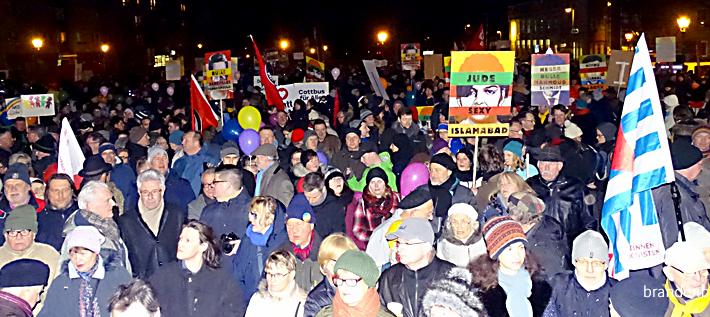 Demo in Cottbus (Foto: Tolerantes Brandenburg)