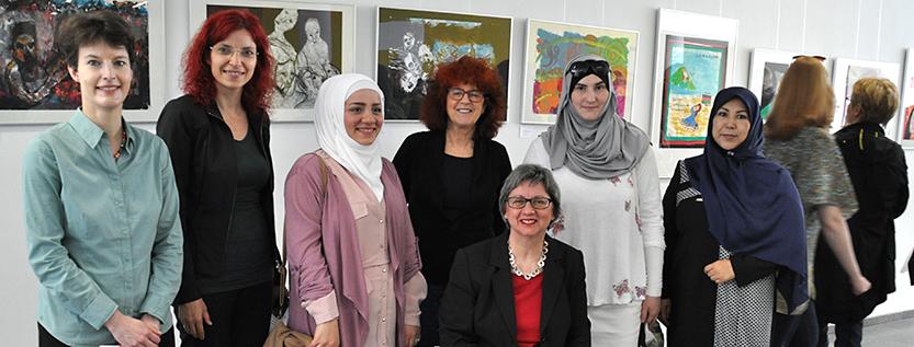 Kunsttherapieprojekt für geflüchtete Frauen (Foto: MASGF)