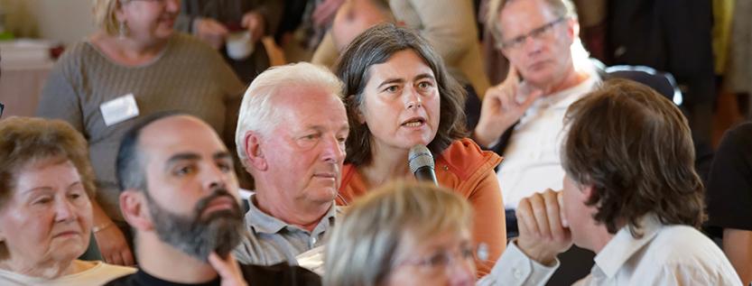 """Diskussion beim Dialogforum """"Integration und Ehrenamt"""" in Brandenburg an der Havel (Foto: MASGF / ariadne an der spree)"""