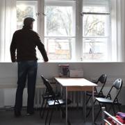 Flüchtlingsunterkunft (Foto: dpa/Bernd Settnik)