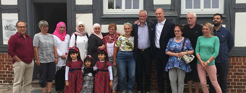 Ministerpräsident Woidke zu Besuch bei der Willkommensinitiative Doberlug-Kirchhain