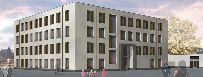 Zweites Familienhaus für Geflüchtete in Eisenhüttenstadt (Foto: Brandenburgischer Landesbetrieb für Liegenschaften und Bauen/arcadia)